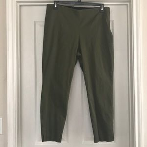 Army green ankle pants